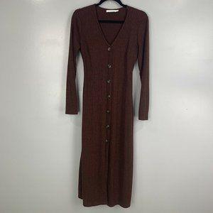 2 for $20 Lush Long Sleeve Ribbed Maxi Dress